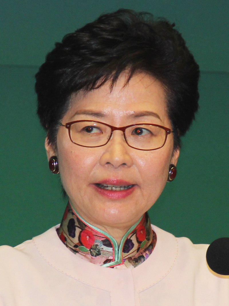 Carrie Lam, Hong Kong's Beijing-approved Chief Executive, in 2018. (Image: VOA/Public Domain)