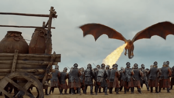 Daenerys uses her dragons to crush slave owners and conquer cities in a bid to create a 'new, beautiful world' that will be free from all the evils of mankind. (Image: Screen Shot/ Youtube)