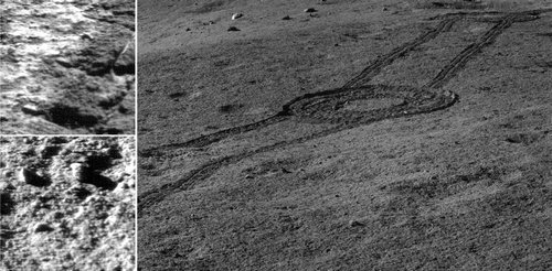 Image captured by Chang'E 4 showed the landscape near the landing site. (Image: NAOC/CNSA)