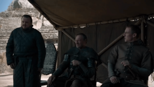 By the end of the story, the various noble houses gather together and decide on establishing a limited democracy. (Image: Screen Shot/ Youtube)