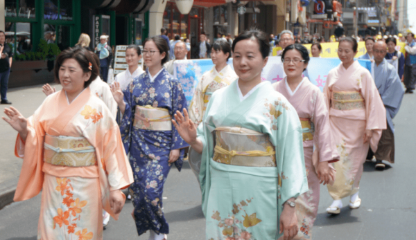 Ladies from Japan in traditional clothing. (Image: David Yang)