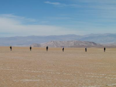 Meteorite recovery campaign in the Atacama Desert (Nov. 2017). (Image: Katherine Joy, University of Manchester)