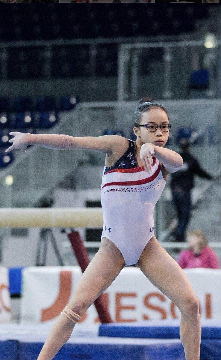 Morgan Hurd won the women's all-around finals and helped the U.S. team win five consecutive championships. (Image: Twitter)