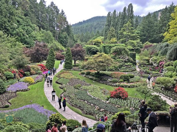 The Butchart Gardens is designated as a National Historic Site of Canada. (Image: Billy Shyu / Vision Times)