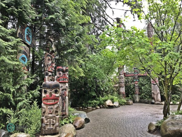 The Capilano Suspension Bridge Park has North America's largest private collection of First Nations totem poles. (Image: Julia Fu / Vision Times)
