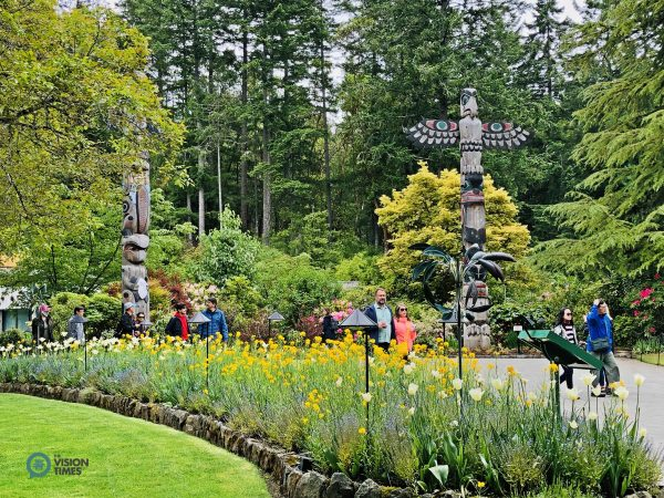 The Butchart Gardens attracts over one million visitors every year. (Image: Billy Shyu / Vision Times)