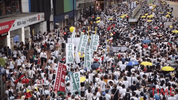 Many young students took to the streets for the first time to join the protest. (Image: Screenshot / YouTube)