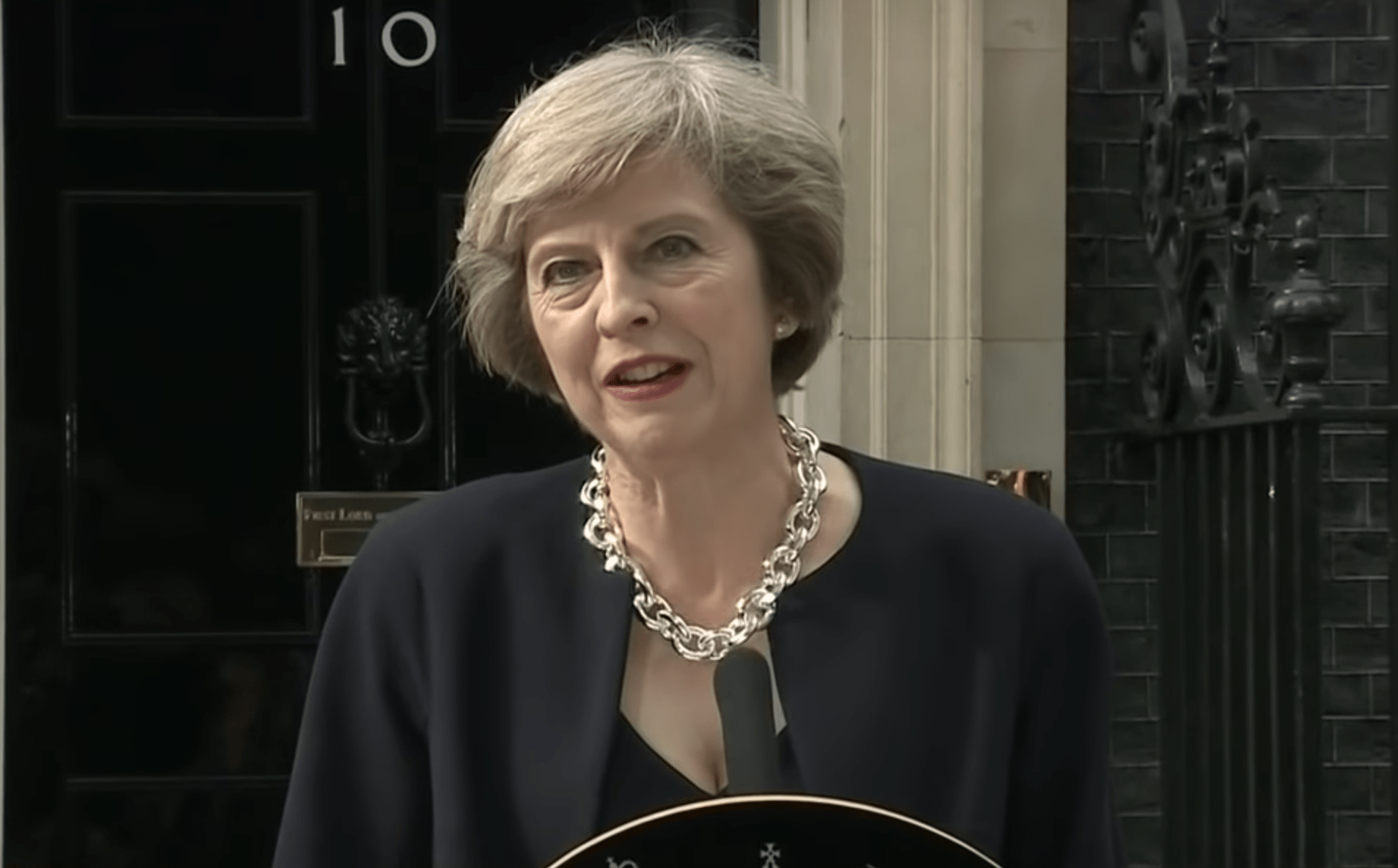 Theresa May expressed concern about eroding rights in Hong Kong. (Image: YouTube/Screenshot)