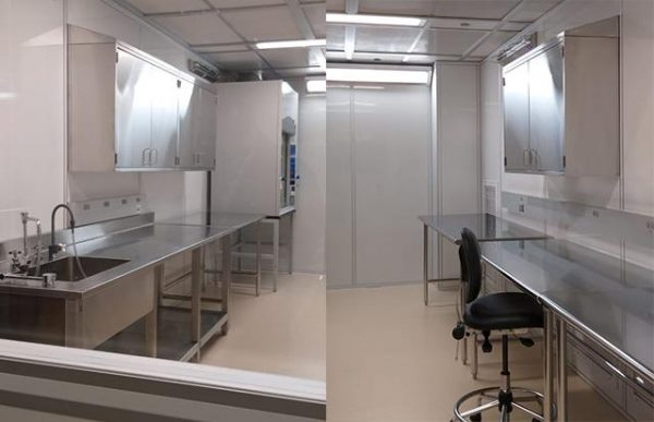 Maanasa Raghavan's ancient DNA lab is kept sterile with carefully controlled access to prevent contamination.