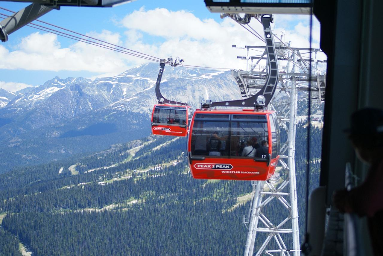 A ride of the scenic Peak 2 Peak Gondola is a great way to enjoy a bird's eye view of the area's stunning landscape. (Image: Pixabay)