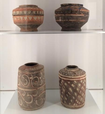 Han Dynasty earthenware pigments. Sourced from Ganquan County Museum, Yan'an. On display at NGV. (Image: Trisha Haddock)