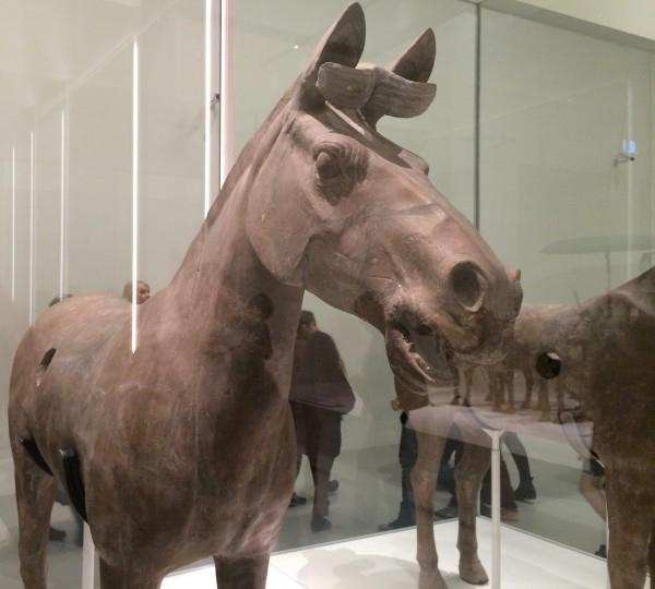 Chariot horse on display at the NGV. (Image: Trisha Haddock)