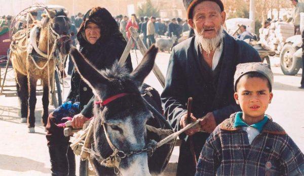 Uyghur children held in detention camps.