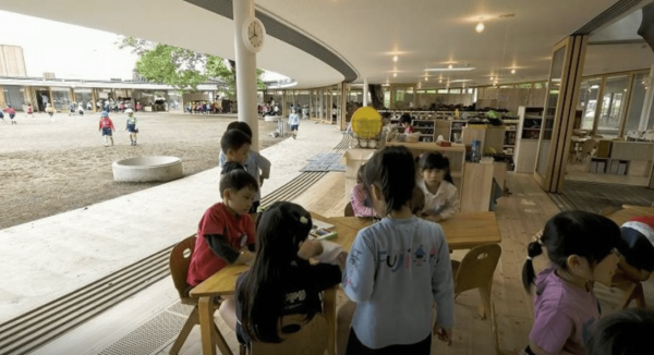 The school follows the Montessori method of teaching in which the kids are given full freedom to learn through discovery. (Image: TED)