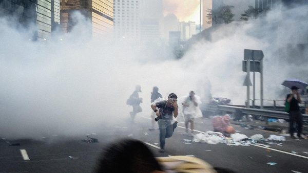 Hong Kong police are using tear gas extensively against protestors. (Image: Studio Incendo via flickr CC BY 2.0 )