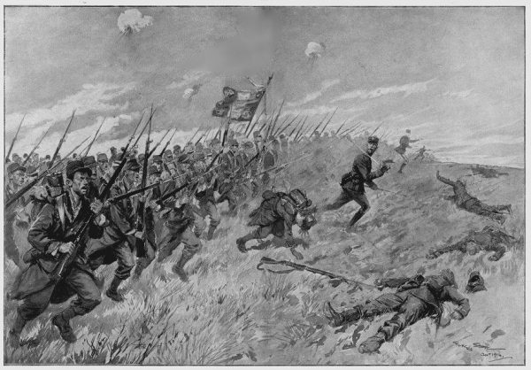 A French bayonet charge during the Battle of the Frontiers (Image: wikimedia / CC0 1.0)