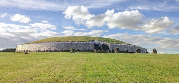 The Newgrange passage tomb in County Meath is dated around 3200 BC, making it older than Stonehenge and the Egyptian pyramids. (Image: University College Dublin)