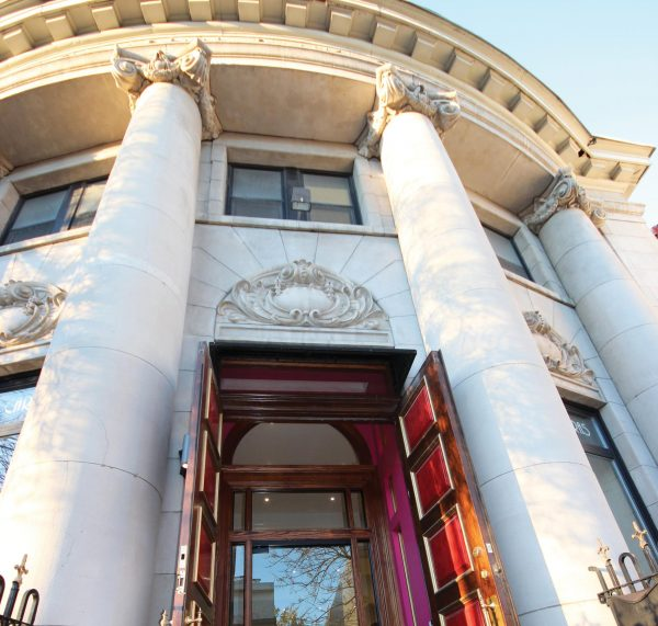 The first thing that strikes you when visiting the finest fashion atelier on Queen Street E. in Toronto is the neoclassical building. (Image: Taste of Life)