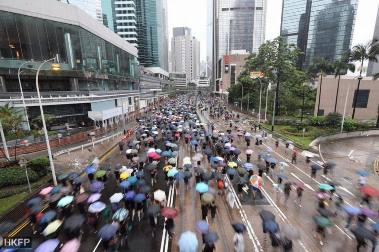 Protesters fill the streets around Victoria Park on Hong Kong Island on Aug. 18, 2019. (Image: Hong Kong Free Press)