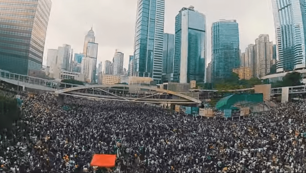 Millions of Hongkongers continue to protest in defense of their city's autonomy and rule of law. (Image: YouTube/Screenshot)