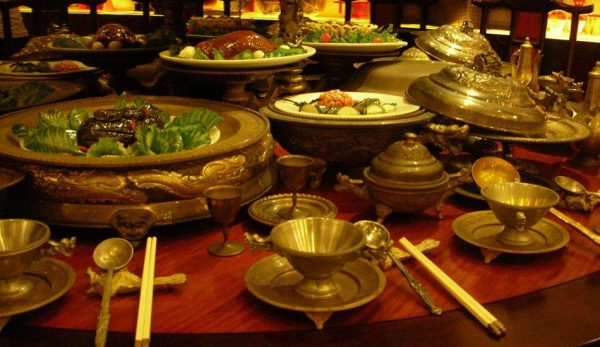 A table full of Chinese dishes.