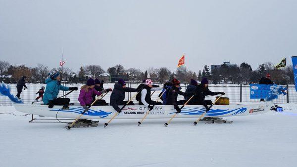The Ottawa Ice Dragon Boat Festival in February. (Image: Facebook of Ottawa Ice Dragon Boat Festival)
