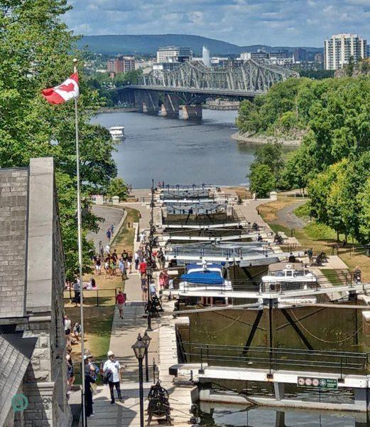 The magnificent flight of 8 locks at Ottawa. (Image: David Bohatyrez / Vision Times)