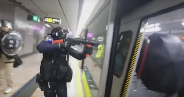 The police raids at Prince Edward Station occurred around 11 p.m. on August 31 and lasted for around two hours. (Image: YouTube/Screenshot)
