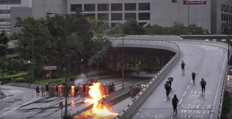 Dreaming is used to cryptically confess an illegal action such as throwing a petrol bomb. (Image: YouTube/Screenshot)