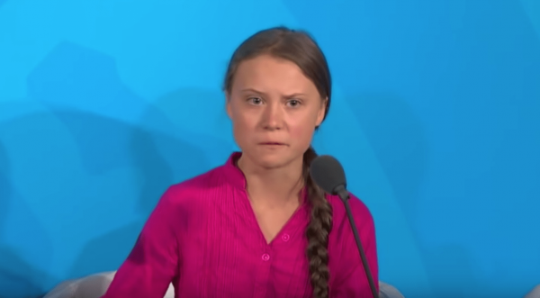 "An emotional Thunberg sat in front of the General Assembly and plainly told those in attendance, ""You have stolen my dreams.""(Image: YouTube/Screenshot)"