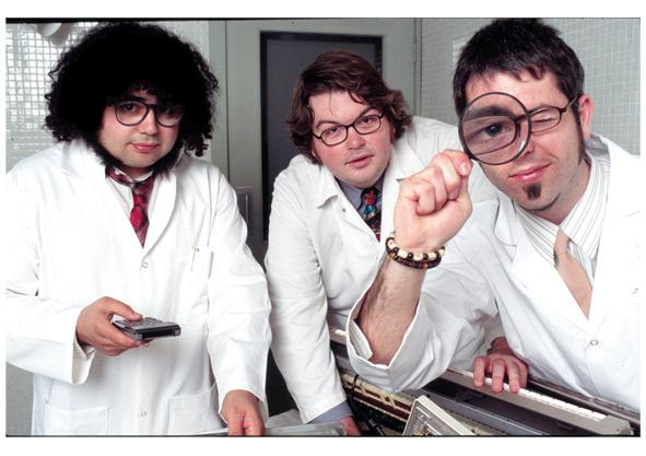 Scientists, looking glass, nerds