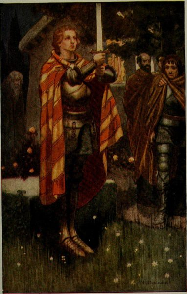 """Arthur is our king!"", an illustration from Arthur Guy Terry's Tales from Far and Near. (Image: wikimedia / CC0 1.0)"