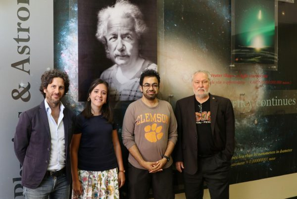 Clemson scientists Marco Ajello, Abhishek Desai, Lea Marcotulli and Dieter Hartmann have collaborated with six other scientists around the world to devise a new measurement of the Hubble Constant. (Image: Jim Melvin / College of Science)