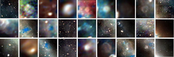 These are the 27 newly-discovered supernova remnants—the remains of stars that ended their lives in huge stellar explosions thousands to hundreds of thousands of years ago. The radio images trace the edges of the explosions as they continue their ongoing expansion into interstellar space. Some are huge, larger than the full moon, and others are small and hard to spot in the complexity of the Milky Way. (Image: Dr Natasha Hurley-Walker (ICRAR/Curtin) and the GLEAM Team)