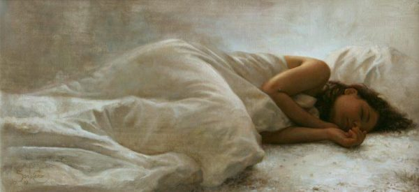'After the Moon' by Cesar Santos. Oil on linen, 14 inches by 30 inches. (Courtesy of Cesar Santos)