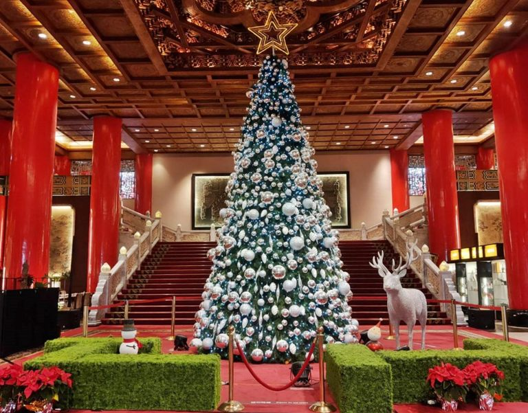 The giant Christmas tree at the Grand Hotel, which is an iconic landmark of Taipei City. (Image: Courtesy of Chin Yuan Huang)