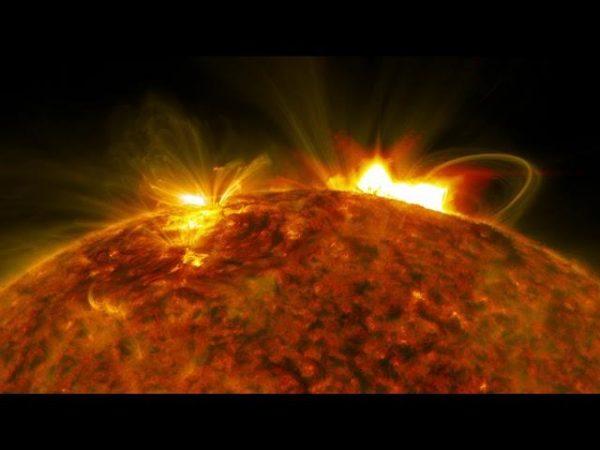 NASA's Solar Dynamics Observatory captured an image of the massive flare that burst off the sun on Sept. 10, 2017. (Image: ©NASA/Goddard/SDO)