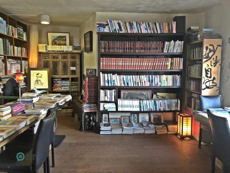 "The bookstore at the ""Stronghold 12"" (南竿12據點) in Matsu's Nangan. (Image: Billy Shyu / Nspirement)"