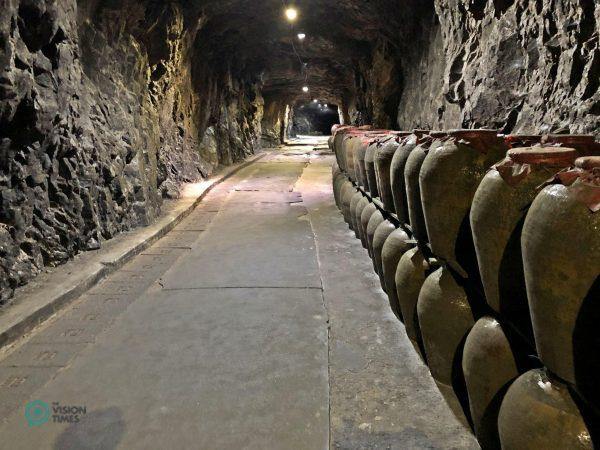 Matsu Winery's old wine and Kaoliang spirits are stored in the Tunnel 88. (Image: Julia Fu / Vision Times)
