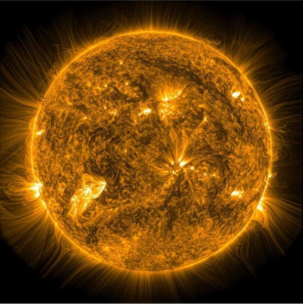 The sun's corona — its outermost layer of atmosphere. Image: Dr. Richard Morton, Northumbria University Newcastle)