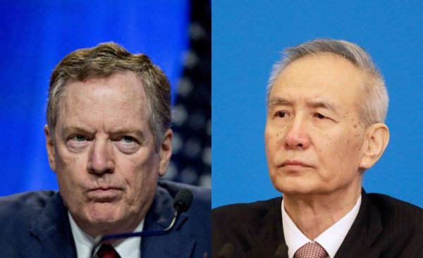 U.S. Trade Representative Robert Lighthizer and his Chinese counterpart, Vice Premier Liu He, have been leading the Sino-U.S. trade negotiations. (Image: via SupChina)