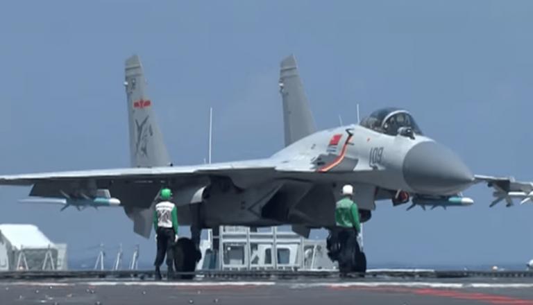 China's J-15 jet is based on Russia's Su 33. (Image: YouTube/Screenshot)