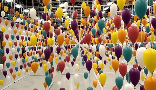 There is a balloon maze you can navigate, straight out of the book 'Oh! The Places You'll Go!' (Image: Screenshot / YouTube)