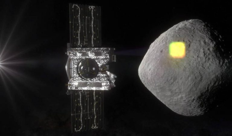 The mapping of the near-Earth asteroid Bennu is one of the science goals of NASA's OSIRIS-REx mission, and an integral part of spacecraft operations. The spacecraft will spend a year surveying Bennu before collecting a sample that will be returned to Earth for analysis. (Image: NASA/Goddard/University of Arizona)