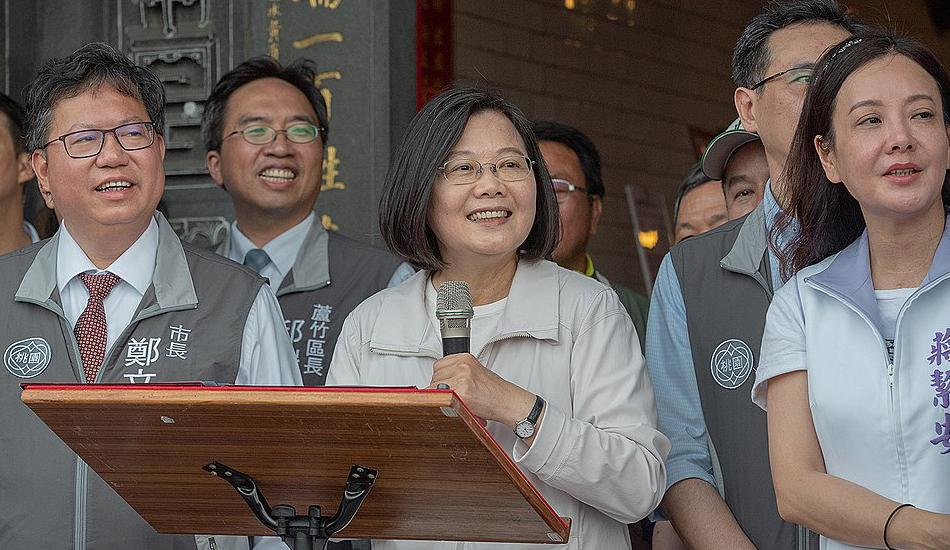 Tsai Ing-wen, the current president and a vocal advocate of Taiwan's democracy, has secured a second term as the leader of the country. (Image: Makoto Lin / Office of the President via wikimedia CC BY 2.0 )