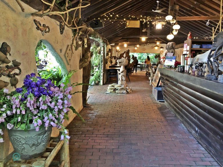 The indoor area of the Rainforest Café in Hualu Flower Home Leisure Farm. (Image: Julia Fu / Nspirement)