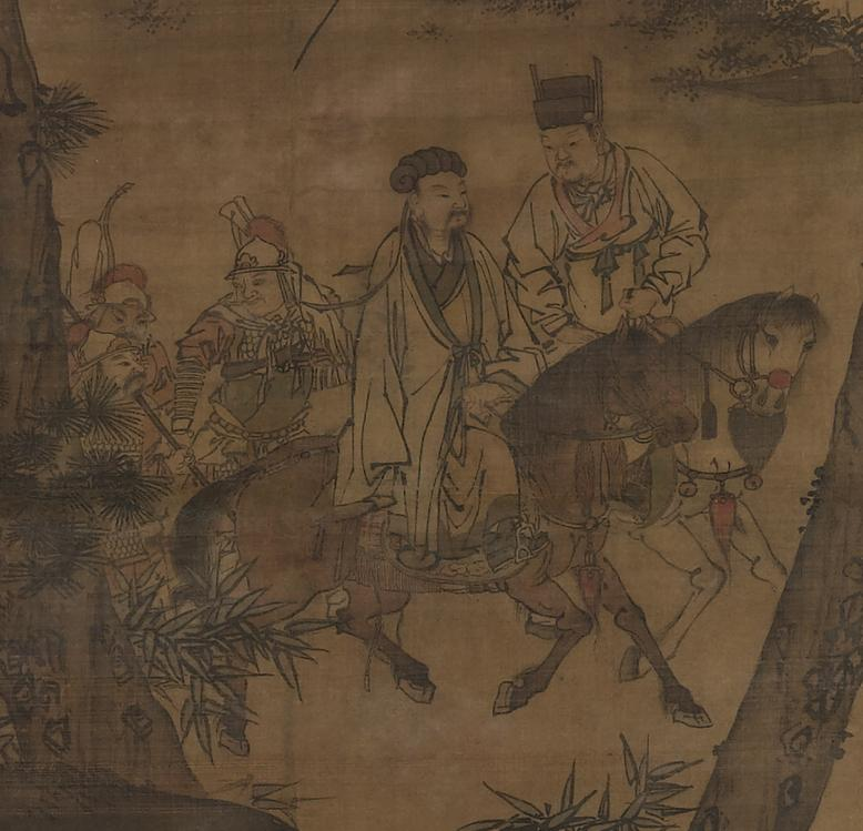 The painting Kongming Leaving the Mountains, depicting Zhuge Liang leaving his rustic retreat to enter into the service of Liu Bei. (Image: wikimedia / CC0 1.0)