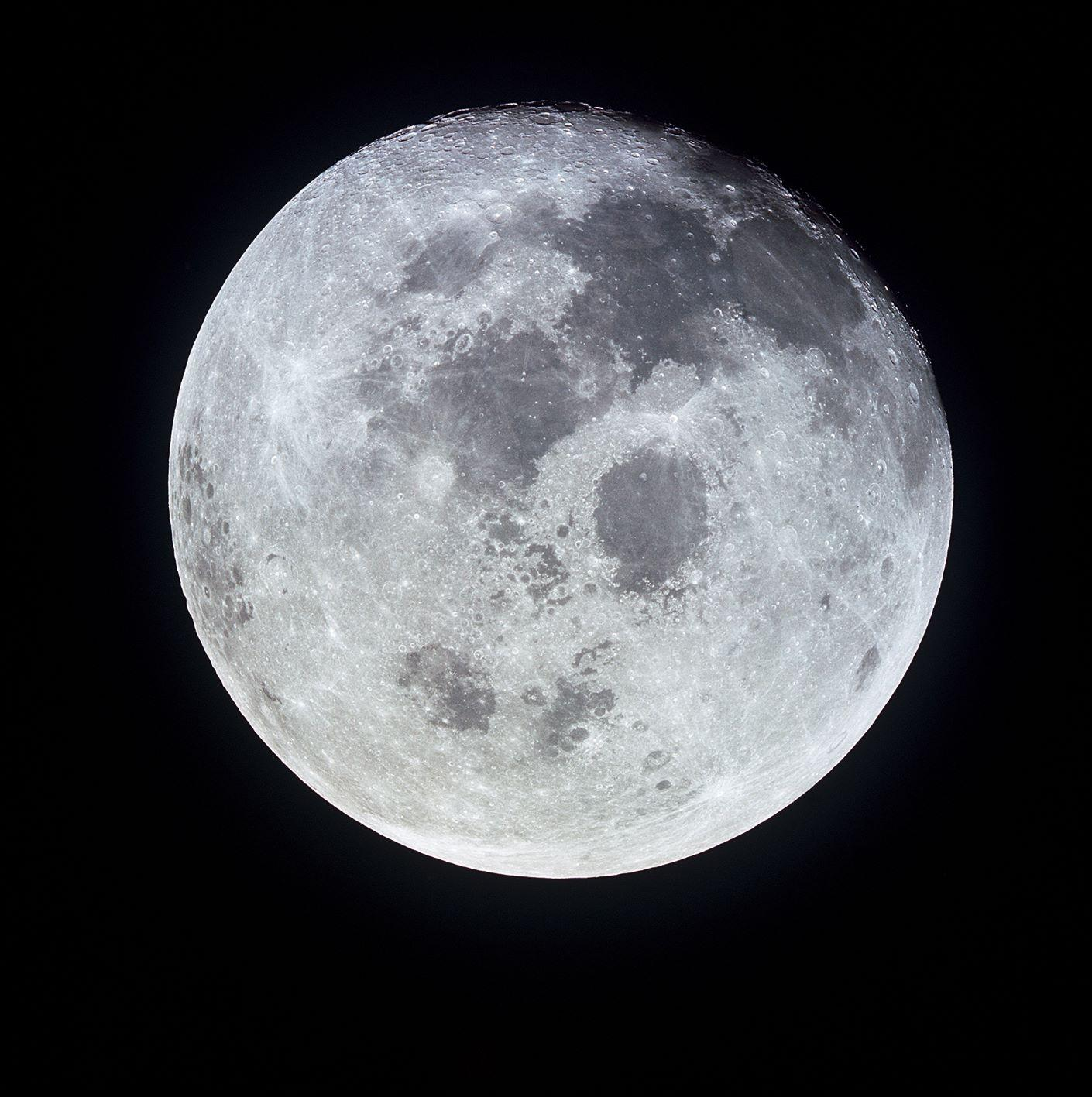 New research provides insights into chemicals trapped in the Moon's dark craters and the conditions necessary for them to collect there. (Image: NASA)