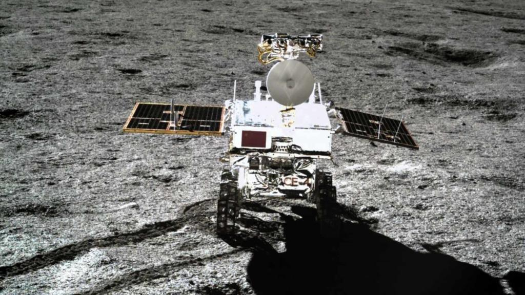 The Yutu 2 rover on the far side of the moon. (Image: Chinese Lunar Exploration Program)