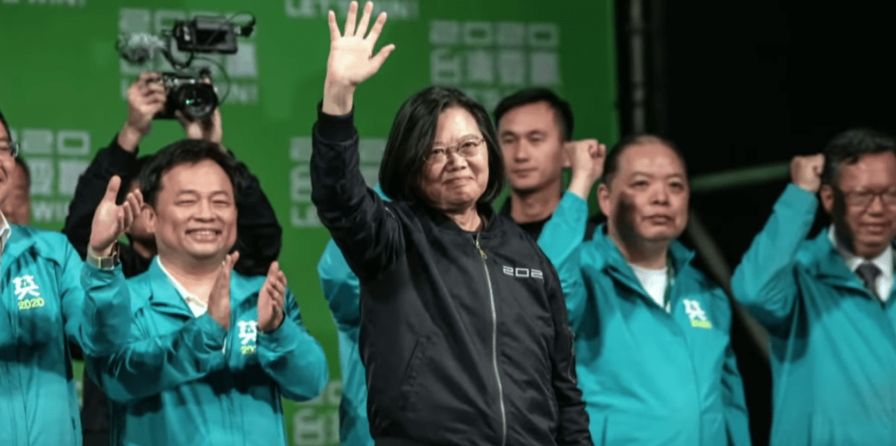 After winning the election Tsai Ing-wen thanked all the voters for taking part in the election regardless of who they voted for as that is putting democratic values into practice. (Image: YouTube/Screenshot)
